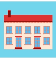 House flat sign vector image