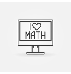 I Love Math icon vector