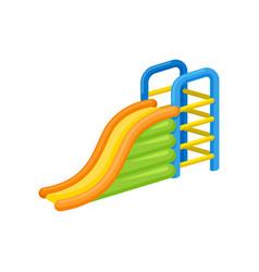 inflatable slide concept amusement park vector image