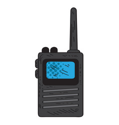 isolated retro walkie-talkie icon vector image