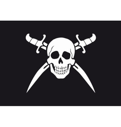 Jolly Roger Black vector image