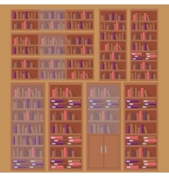 library book shelf background vector image