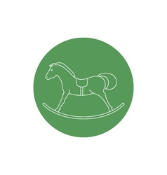 Linear icon of a rocking horse vector