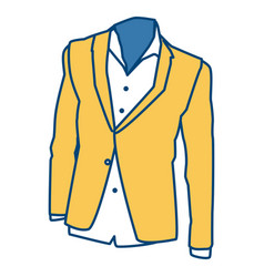 Mens blazer and shirt fashion clothes vector