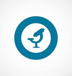 Microscope bold blue border circle icon vector