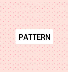 modern cross design pattern pink background vector image