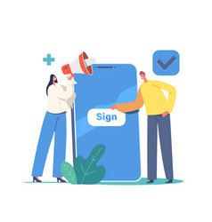 New user online registration and sign up concept vector