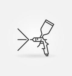 paint sprayer or spray gun linear concept vector image