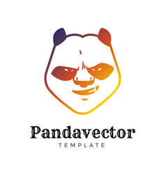 panda bear sport logo concept isolated on vector image