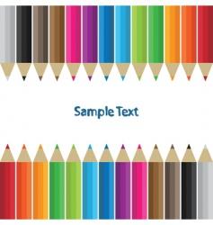 Pencil border vector