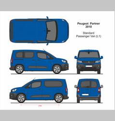 Peugeot partner passenger van l1 2018-present vector