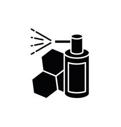 Propolis mouth spray black glyph icon vector