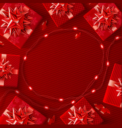 Red background for christmas and happy new year vector