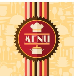 Restaurant menu background in flat design style vector