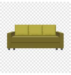 Retro sofa mockup realistic style vector