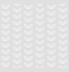 scandinavian floral seamless pattern white leaves vector image