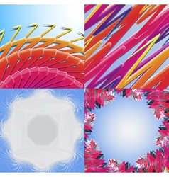 Set of Abstract Rainbow concept background vector image