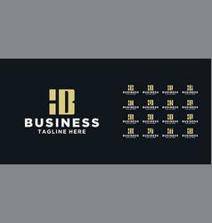 set square logo design inspiration vector image