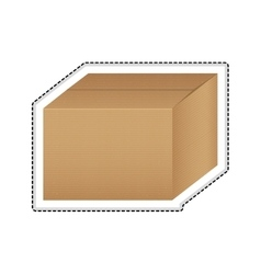 simple box icon image vector image