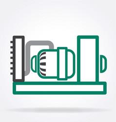 Simple generator icon vector