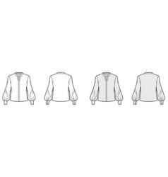 stand collar shirt technical fashion vector image