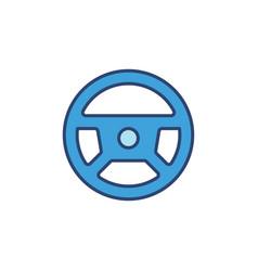 Steering wheel concept blue modern icon vector