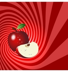 Striped spiral apple patisserie background vector image