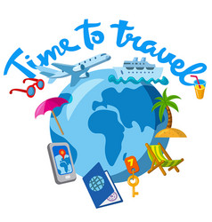 travel and journey icon vector image