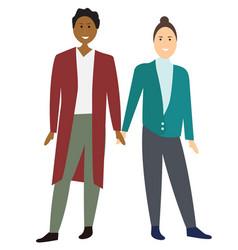 two gay cartoon men couple vector image