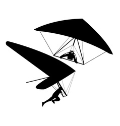 two hang gliders vector image