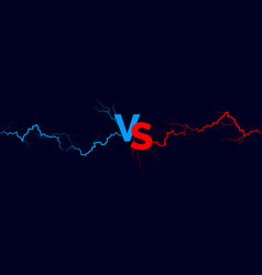 versus background blue and red forces lights vector image