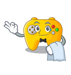 Waiter video game controller shaped on charcter vector