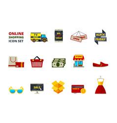 web store icon online shop payment e commerce vector image