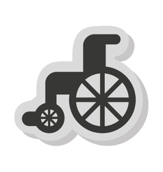 Wheelchair disable isolated icon vector
