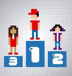 winner concept vector image