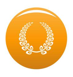 wreath icon orange vector image