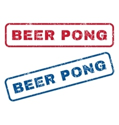 Beer pong rubber stamps vector