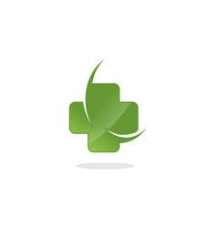 medical croos swoosh design vector image