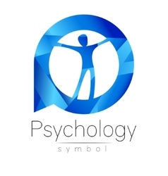 Modern man Logo Sign of Psychology Human in a vector image