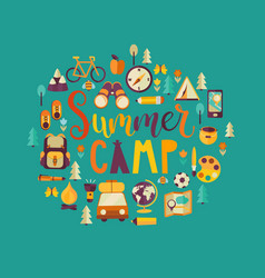 concept of summer camp vector image