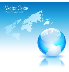globe and map vector image vector image