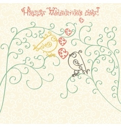 Happy Valentines Day Greeting card or invitation vector image