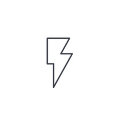 lightning electricity thin line icon linear vector image vector image