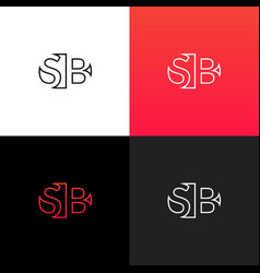 logo sb linear logo of the letter s and b vector image