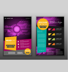 Modern abstract brochure report or flyer design vector