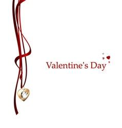 Postcard Valentines Day vector image