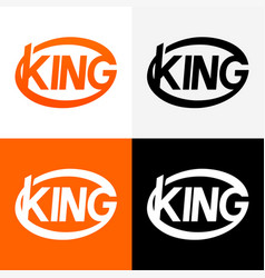 round modern logo of king vector image