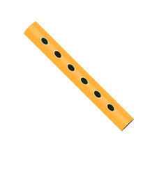 wooden flute icon in the style of cartoons vector image
