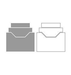 documents archieve or drawer icon grey set vector image vector image