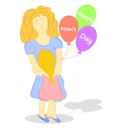 Happy Moms day vector image